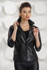 Черная кожаная куртка. Фото 1.