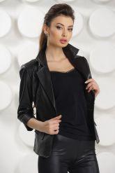 Черная кожаная куртка. Фото 2.