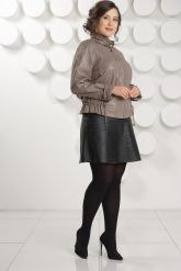 Женская кожаная куртка на молнии. Фото 1.