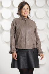 Женская кожаная куртка на молнии. Фото 3.