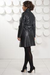 Кожаная куртка косуха на молнии больших размеров. Фото 4.