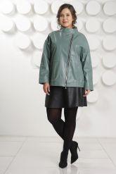 Кожаная куртка больших размеров evergeery. Фото 1.