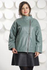 Кожаная куртка больших размеров evergeery. Фото 3.