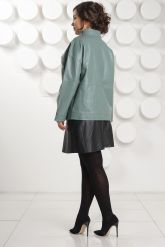 Кожаная куртка больших размеров evergeery. Фото 4.