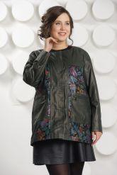 Кожаная куртка с принтом. Фото 2.