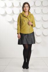 Короткая кожаная куртка  Милан. Фото 1.