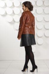 Кожаная куртка коричневого цвета. Фото 4.