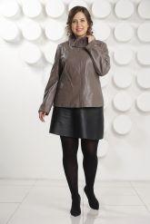 Женская кожаная куртка с мехом рекс. Фото 1.