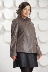 Женская кожаная куртка с мехом рекс. Фото 3.