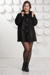 Замшевая куртка больших размеров с капюшоном. Фото 1.