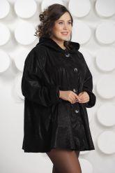 Замшевая куртка больших размеров с капюшоном. Фото 2.