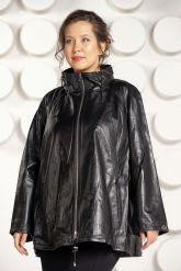 Трапециевидная кожаная куртка. Фото 2.