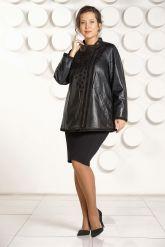 Красивая кожаная куртка для женщин. Фото 1.