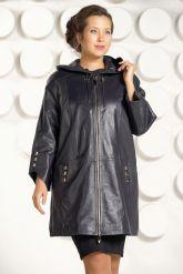 Женский кожаный плащ с капюшоном. Фото 2.