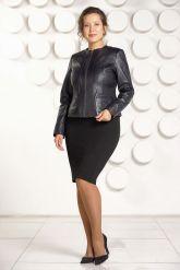 Короткая кожаная куртка для женщин. Фото 1.