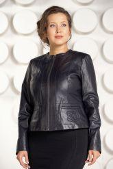 Короткая кожаная куртка для женщин. Фото 3.