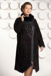 Длинное пальто из замши. Фото 2.