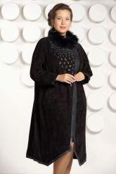 Длинное пальто из замши. Фото 3.