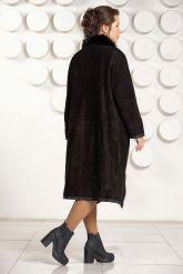 Длинное пальто из замши. Фото 4.