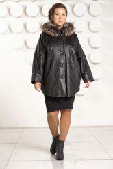 Зимняя кожаная куртка больших размеров. Фото 1.