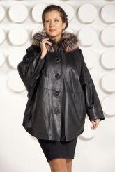 Зимняя кожаная куртка больших размеров. Фото 2.