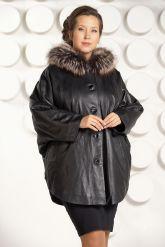 Зимняя кожаная куртка больших размеров. Фото 3.