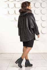 Зимняя кожаная куртка больших размеров. Фото 4.