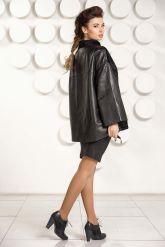 Стильная кожаная куртка с мехом астраган. Фото 5.