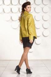 Короткая кожаная куртка  Милан. Фото 4.