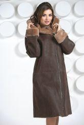 Европейская дубленка коричневого цвета. Фото 4.