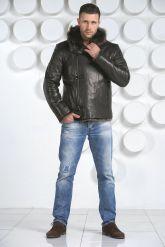 Зимняя мужская кожаная куртка. Фото 1.