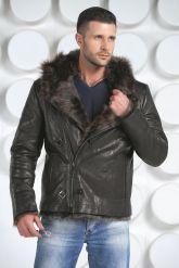 Зимняя мужская кожаная куртка. Фото 2.
