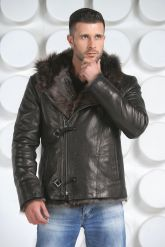 Зимняя мужская кожаная куртка. Фото 4.