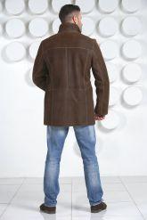 Мужская дубленка коричневого цвета. Фото 4.