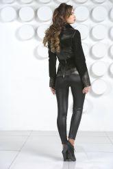 Комбинированная кожаная куртка с мехом норки. Фото 5.
