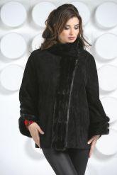 Женская куртка автоледи из натуральной замши больших размеров. Фото 2.