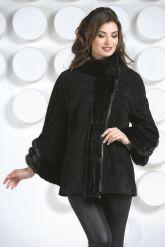 Женская куртка автоледи из натуральной замши больших размеров. Фото 3.
