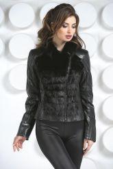 Кожаная куртка с мехом норки. Фото 3.