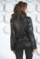 Кожаная куртка с мехом норки. Фото 4.