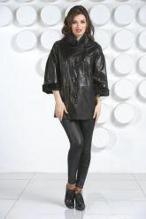 Кожаная куртка с укороченными рукавами. Фото 1.