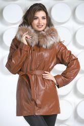 Кожаная куртка с мехом. Фото 3.