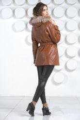 Кожаная куртка с мехом. Фото 4.