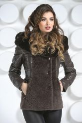 Теплая куртка шоколадного цвета. Фото 2.