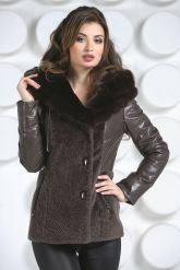 Теплая куртка шоколадного цвета. Фото 3.