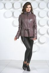 Кожаная куртка с мехом норки-1. Фото 1.
