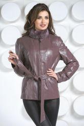Кожаная куртка с мехом норки-1. Фото 2.