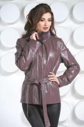 Кожаная куртка с мехом норки-1. Фото 3.