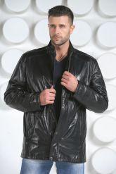 Демисезонная кожаная куртка. Фото 3.