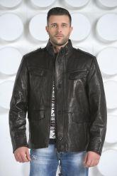 "Мужская кожаная куртка в стиле ""милитари"". Фото 1."