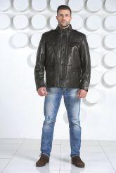 "Мужская кожаная куртка в стиле ""милитари"". Фото 2."